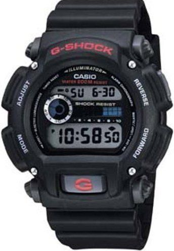 Casio DW9052-1V G-Shock Illuminator Digital Watch - Black, Daily alarm and hourly time signal, Rugged wristwatch is shock and water resistant, Digital timepiece display features time, day and full auto-calendar, Stopwatch measures elapsed time in 1/100 of a second (DW90521V  DW9052 1V)