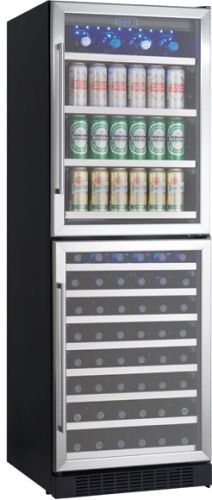 danby dwbc14bls silhouette beverage center black with stainless steel builtin or application beverage center maximum capacity