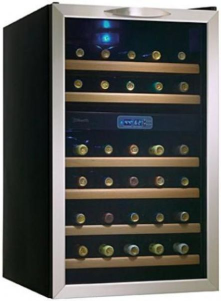 "Danby DWC283BLS Wine Cooler 19"" for 30 Bottles, Black with"