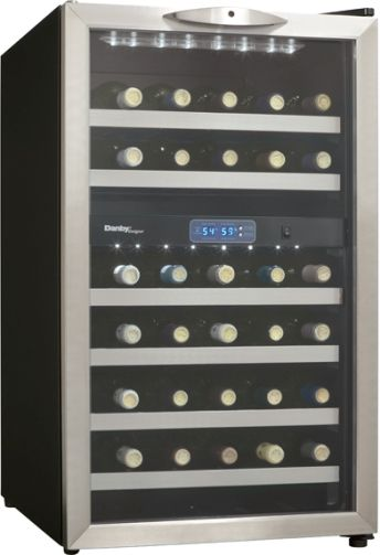 Danby DWC286BLS Free-standing Wine Cooler, Black with Stainless