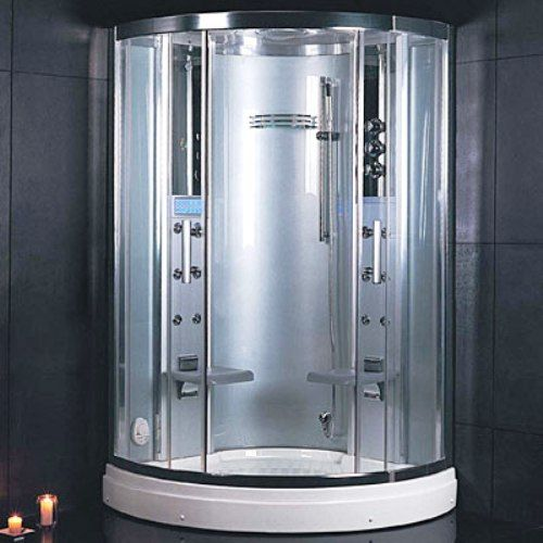 ariel platinum dz931f3 steam shower steam function 12 body massage jets etl approved overhead rainfall shower head handheld showerhead