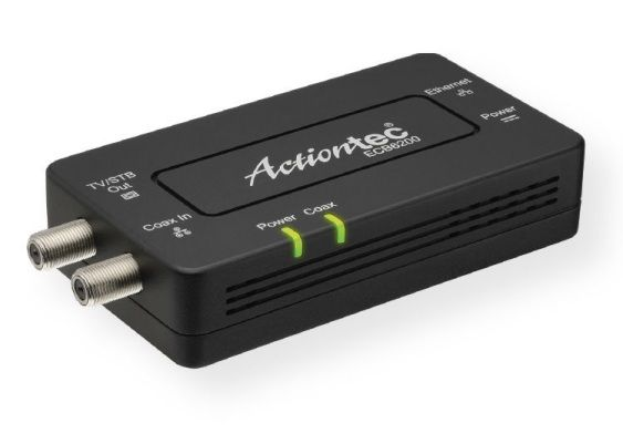Actiontec ECB6200 Bonded MoCA 2.0 Network Adapter; MoCA 2.0, bonded, up to 1 Gbps using home existing coaxial wires; Includes one 10/100/1000 Base T 802.3ab Ethernet LAN, one bonded MoCA 2.0; UPC 789286808929 (ECB6200 ECB-6200 WIFIECB6200 WIFI-ECB6200 ACTIONTECECB6200 ECB6200-ACTIONTEC)