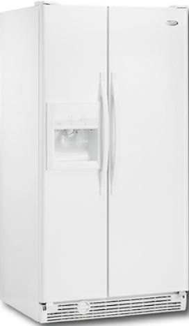 whirlpool side by side refrigerator white. whirlpool ed5gtgxnq 25.3 cu. ft. side by refrigerator, white on (ed5gtgxn ed-5gtgxnq ed 5gtgxnq refrigerator