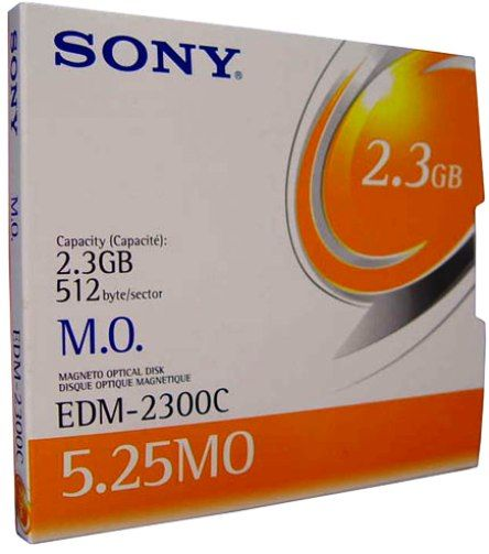 Sony EDM-2300C Magneto Optical Disk 5.25-Inch 2.3GB Storage Capacity, 512 byte/sector, Rewritable, Over 1,000,000 erase/write cycles, 100,000 load/unload cycles per side without quality loss and 50-year archival life (EDM2300C EDM 2300C EDM-2300 EDM2300)