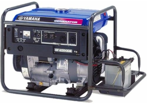 Yamaha EF4000DE Premium Consumer Generator 4000 Watt w/ Electric Start, Rated AC Output 3500 watts, Fuel Tank Capacity 4.8 gallons, Continuous Operation at 1/4 Rated Load 10.6 hrs., Noise Level 69.0 dBA (EF-4000DE EF4000-DE EF4000D EF4000 EF-4000)