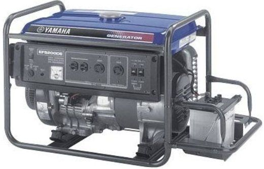 Yamaha EF5200DE Dual-Voltage Generator, 5200 Watts, Electric start, low oil warning system, Push button circuit breakers, Brushless inverter-type generator, Improved combustion chamber design, Auto voltage regulation, Noise suppressor (EF 5200DE  EF-5200DE)
