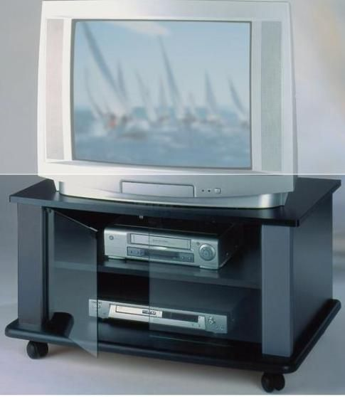 Elite Industries EL146B TV Stand On Heavy Duty Casters