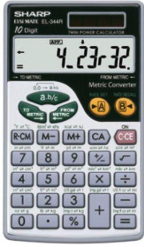 sharp el 344 metric converter calculator with fraction function