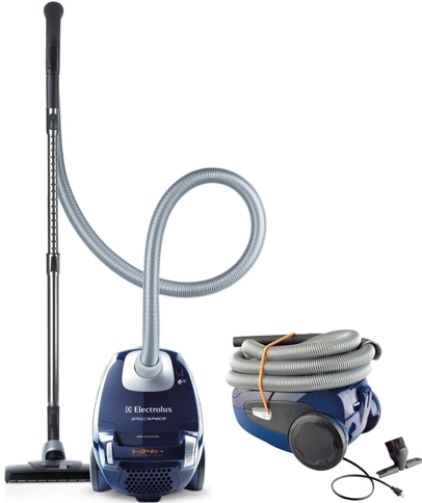 electrolux vacuum canister. electrolux el4103a ergospace canister bag vacuum, blue; clean stairs, carpets, bare floors and upholstery with this vacuum e