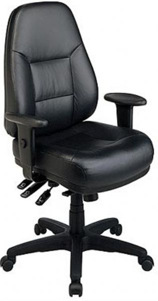office star el4350 ergonomic leather multi-function chair, thickly