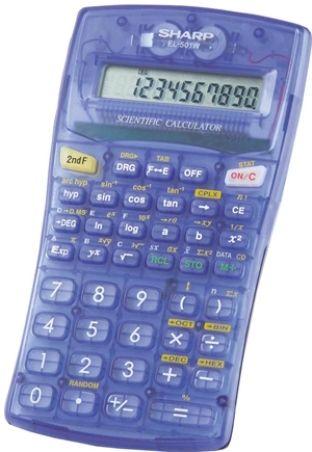 Sharp El 501wbbl Scientific Calculator Translucent Blue