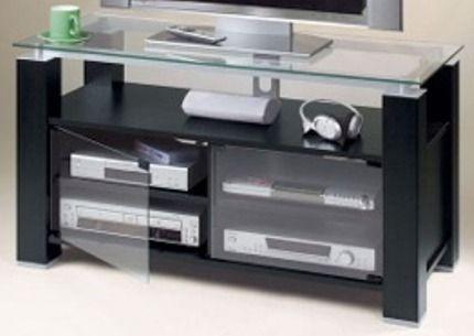 Elite Industries El 995 Black Ash Tv Stand And Audio Rack