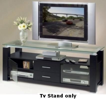Delightful Elite EL 996 Wide TV Stand And Audio Rack In Sleek Black, 300 LB Top Shelf  Capacity, Ultra Sleek And Contemporary Audio Video Furniture Made Of The  Finest ...