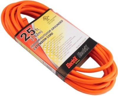 ENS EC1625ULF Indoor/Outdoor 25 Foot (7.62m) Grounded Extension Cord, 1625 Watts Maximum, Grounded Plug and Outlet, 3 Wire/16 Gauge SJTW, 125 Volts, Requires 13 Amps or Less (ENSEC1625ULF EC-1625ULF EC1625-ULF EC1625 ULF EC 1625ULF)
