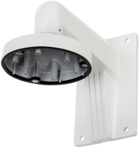 H SERIES ES1473ZJ-135 Wall Mounting Bracket, White For use with ESNC324-XDZ, ESNC326-XDZ and ESNC328-XDZ Turret Network Cameras; Aluminum Alloy Material with Surface Spray Treatment; Cable Hole Design Facilitates the Cable Routing; Cap Design Dacilitates the Installation; Dimension 136x183.5x230mm (5.35