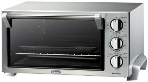 Delonghi eo1260 stainless steel toaster oven 1400w maximum input power large 12 5 liter 0 5 for Toaster oven stainless steel interior