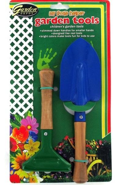 Eosk gc594 2 pk children 39 s garden tools wood handle metal for Gardening tools online in pakistan