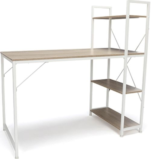 OFM ESS-1004-WHT-NAT Essentials Combination Desk 4 Shelf, 36.75