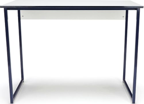 OFM ESS-1040-BLU-WHT Essentials Computer Desk, Integrated privacy screen, 37.25