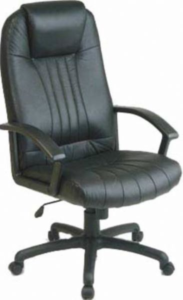 Office Star EX1128 3 High Back Leather Chair Contour Seat And Back