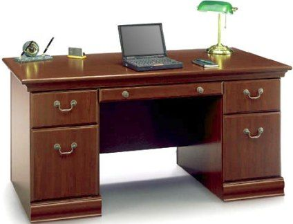 Bush Ex26628 03 Birmingham Executive Collection 60 Desk Durable Work Surface Is Scratch And Stain Resistant Pull Out Catch All Drawer