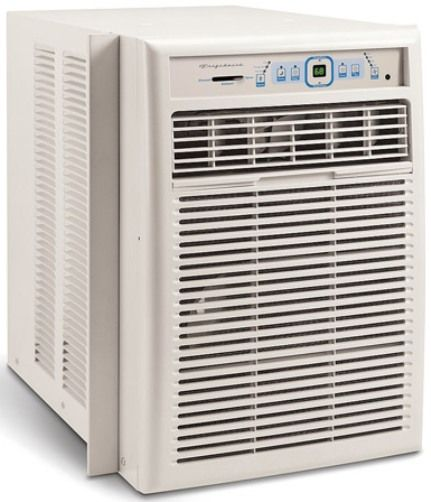 frigidaire fak104r1v window mounted slider casement air conditioner white 10 000 btu cooling. Black Bedroom Furniture Sets. Home Design Ideas