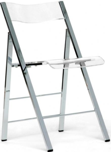 Merveilleux Wholesale Interiors FAY 506 CLEAR Set Of Two Macbeth Acrylic Foldable  Accent Chair, Ergonomically Sculpted Back, ...