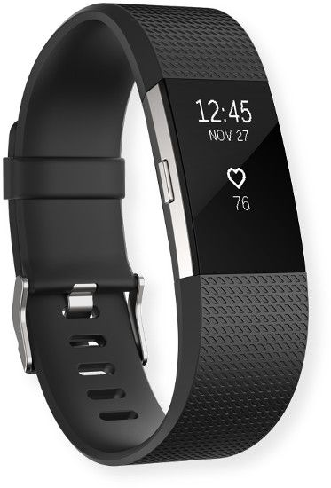 Fitbit FB407SBKL Charge 2 Activity Tracker; Black; PurePulse Heart Rate, Get continuous, automatic, wrist-based heart rate; Cardio Fitness Level, Get a better understanding of your fitness level; All-Day Activity Tracking; UPC 810351029281 (FB407SBKL FB-407SBKL FB407SBKL-FITBIT FB407SBKL CHARGE-2 FB407SBKL-CHARGE 2 FB407SBKL-WRIST-CHARGE2)
