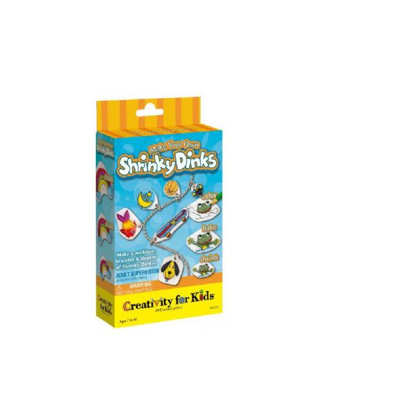 Creativity for Kids FC1478 Shrinky Dinks Make Your Own Mini Kit; Create jewelry by simply coloring and baking! Includes five 4