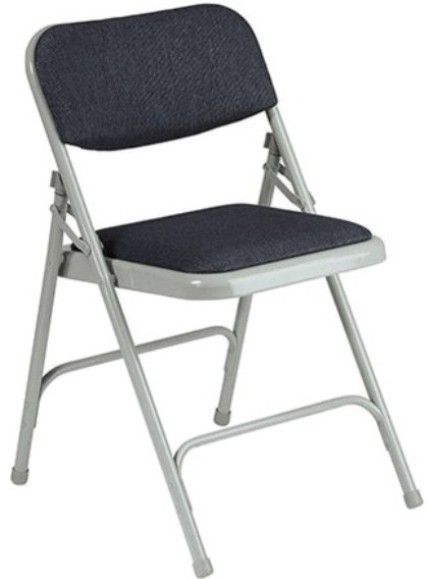 office starfc25f 2 metal folding chair with fabric padding all metal