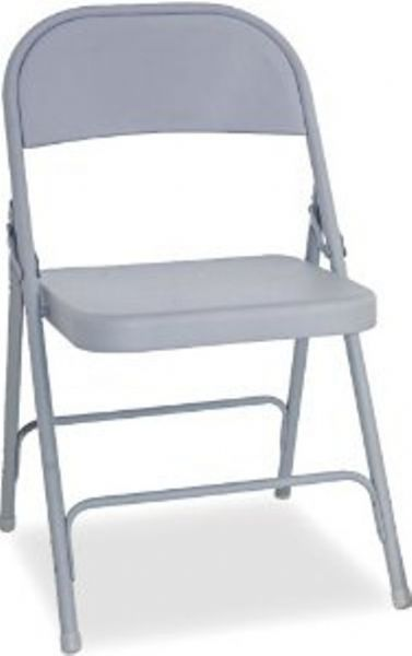 Alera FC94G Steel Folding Chair Traditional Armless Steel