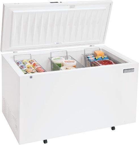 Ft. Chest Freezer with 3 Wire Baskets Defrost drain Heavy duty casters Heavy duty cooling system NSF certified performance Heavy duty NSF certified ...  sc 1 st  SaleStores.com & Frigidaire FCCS201FW Commercial Series 19.7 Cu. Ft. Chest Freezer ...
