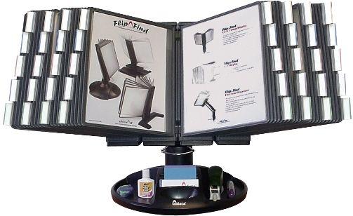 FDS021L-40 Flip & Find Executive Desktop Rotating Reference Organizer