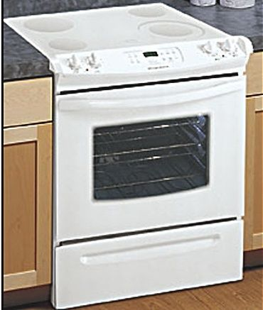 white electric range. Frigidaire FES365ES Slide In Electric Range White Electric Range