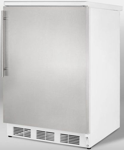 Summit FF6SSHV Freestanding All Refrigerator With Auto Defrost Stainless Ste