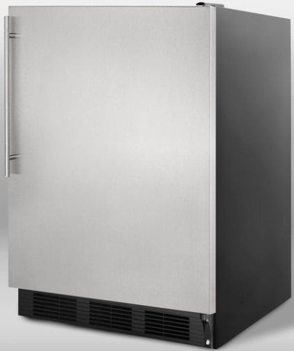 Summit FF7BSSHV Commercially Approved Freestanding Refrigerator With Stainles
