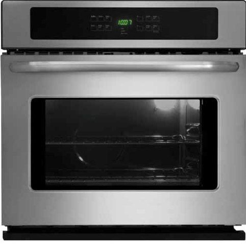 Frigidaire FFEW3025LS Single Electric Wall Oven, 4.2 Cu. Ft. Oven Capacity, 6 pass 2750 Watts Bake Element, 6-pass 3,400 Watts Broil Element, Vari-Broil Broiling System, 2-3-4 hours Cleaning System, Membrane Interface, Low and High Broil, Integrated with Bake Preheat, 2, 3 Hours Scroll thru Self-Clean, 12 hrs. Timed Shut-off, Keep Warm, Delay Clean, Timer Function, Timer Lock-out, Stainless Streel Color, UPC 057112104201 (FFEW3025LS FFEW-3025LS FFEW 3025LS FFEW3025-LS FFEW3025 LS)