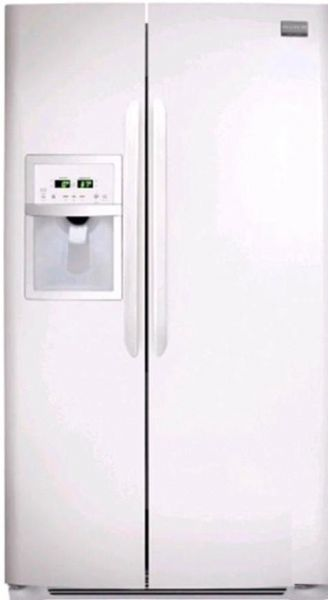 Frigidaire FGUS2632LP Gallery Series Side By Side Refrigerator, 26 Cu. Ft.  Capacity, 16.5 Cu. Ft. Fresh Food Capacity, 9.5 Cu. Ft.