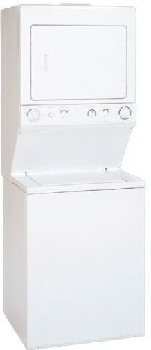 Frigidaire FGX831FS Washer/Dryer Laundry Center, White, Extra-Large Capacity Wash Tub, 2 Agitate / Spin Speed Combinations, 3-Position Water Level Adjustment, Bleach Dispenser, Heavy-Duty Single Speed 3/4 HP Motor 5.7 Cu. Ft. Super Capacity Drum (FGX-831FS FGX831-FS FGX831F FGX831)