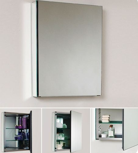 fresca fmc8058 bathroom 20 wide medicine cabinet with mirrors 2