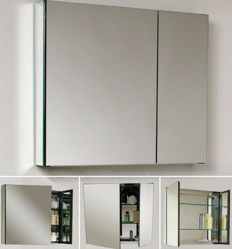 fresca fmc8090 bathroom 30 wide medicine cabinet with mirrors 2