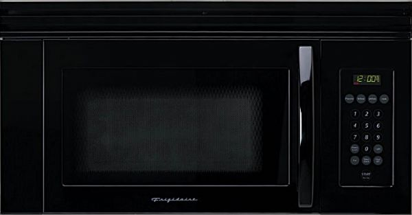 Frigidaire Fmv156db Over The Range Microwave Oven 1 5 Cu Ft 950 Watts 3 Stage Cooking Black On 11 Levels Touch Control With 20 Pads