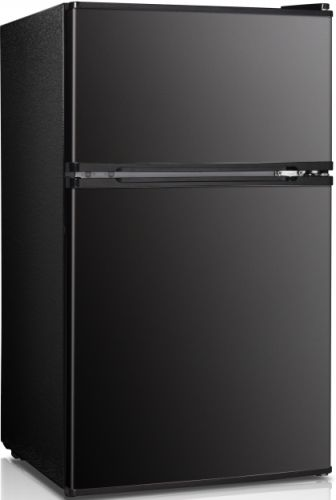 Daewoo FR 031DDRBE Black Two Door Compact Refrigerator, 3.1 Cu. Ft. Net  Capacity, Full Range Temperature Control, Separate Top Freezer, Low Noise  Level, ...