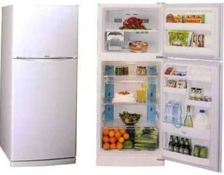 Daewoo Electronics FR-3801 No Frost Refrigerator, White, 386 Liters Total Capacity (278 Refrigerator/108 Freezer), Cooling system with multi air flow, Movable glass shelves of class
