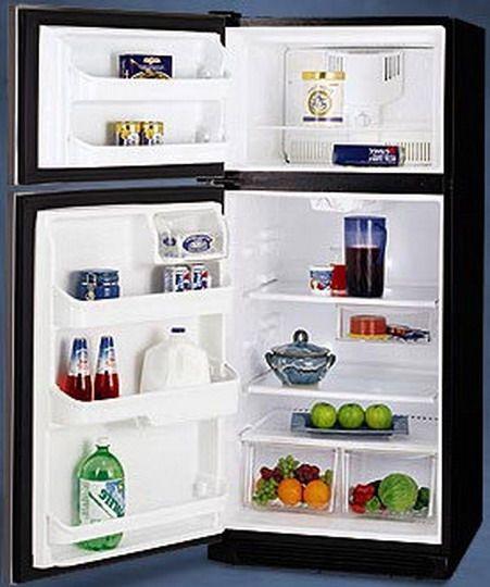 Frigidaire FRT17G5CSK Top Freezer Refrigerator 16.5 Cu. Ft. With 2  Full Width Glass Shelves U0026 Clear Deli Drawer Stainless Steel/Left Hinge Door;  ...