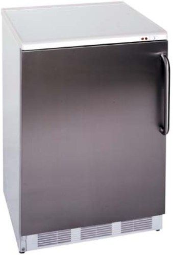 Summit FS62SSTB Wide Undercounter 24 Inch All Freezer White Body With Wrappe