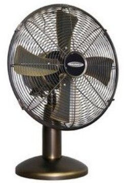 Soleus Air FT13044 Metal Table Fan   Bronze With Gold Accents, 12 Inch,  Separate Oscillation Control Provides Oscillation Option To Increase Air  Circulation ...