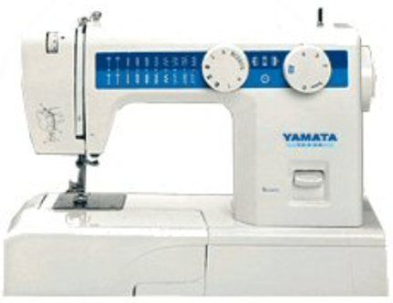 Yamata Fy812 Multi Function Domestic Sewing Machine 21 Stitch Patterns 700 Stitches Per Minute Three Step Button Holing Button Attaching Zipper Sewing Edge Jimmying Overlocking Cloth Embroidering