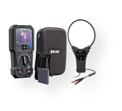 FLIR DM284-FLEX-KIT Professional Imaging Multimeter Kit Including DM284-KIT, TA10-F Protective Case and TA74 Universal Flex Clamp Probe, 9Hz; Includes TA04-KIT Rechargeable Battery Pack; Dimensions 14 x 19 x 8 inches; Weight 4 lbs; UPC 793950372845 (FLIRDM284FLEXKIT DM284FLEXKIT MEASURE TESTER ENGINEERING INSPECTION INVESTIGATION)
