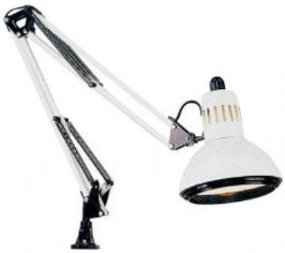 Alvin G2540-D Swing-arm lamp, White, Ventilated 6.5in diameter ...